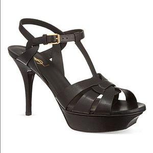 New Size 37 Saint Laurent Black Tribute Sandals